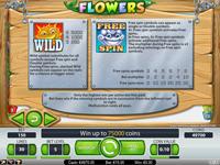 Flowers utbetalingstabell