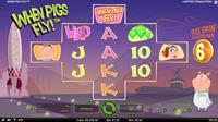 Vanlig spillmodus i spilleautomaten When Pigs Fly