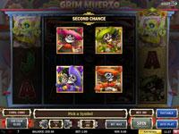 Andre sjanse-funksjonen i spilleautomaten Grim Muerto